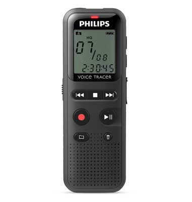 Philips DVT1150 Voice Tracer Audio Recorder